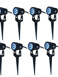 Jiawen 8pcs LED Garden Spot Lamp Spike Landscape 3W Outdoor Lighting  AC85-265V LED Lawn Lamp Waterproof IP65