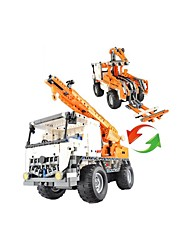 cheap -Toy Cars Building Blocks Radio Control Educational Toy Toys Excavating Machinery Remote Control DIY Acetate/Plastic ABS Kid's Kids'
