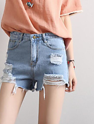 cheap -Women's Casual Slim / Jeans / Shorts Pants - Solid Colored / Summer / Beach
