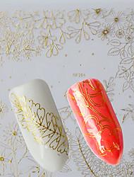 1pcs Fashion Charming Gold Flower Design Nail Art 3D Sticker Beautiful Flower DIY Charm Decoration Manicure Beauty BP264