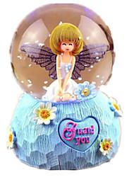 Caixa de música Brinquedos Redonda Resina Vidro Peças Unisexo Natal Aniversário Dom