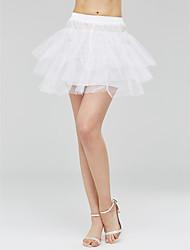 baratos -deslizamentos de tulle de vestido de bola de comprimento curto com acessórios de casamento