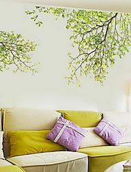 economico -Floreale/Botanical Adesivi murali Adesivi aereo da parete Adesivi decorativi da parete, Plastica Decorazioni per la casa Sticker murale