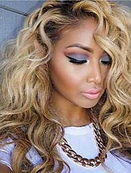 T1B/613 Golden Ombre Deep Wave Brazilian Human Hair Wigs Glueless Full Lace Human Hair Wigs On Sale