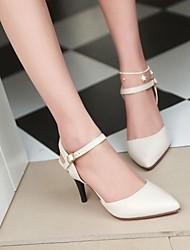 Women's Shoes PU Summer Comfort Heels Stiletto Heel Pointed Toe For Casual Black Beige Light Pink
