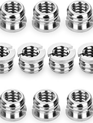 (10 Pack) Camera 1/4-20 to 3/8-16 Reducer Bushing Convert Screw Adapter for TripodMonopod Ballhead Stand and Video light DSLR SLR