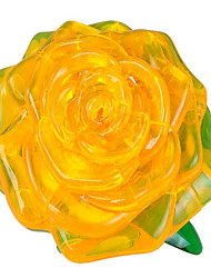 abordables -Puzzles 3D Puzzle Circulaire Roses 3D A Faire Soi-Même Plastique Unisexe Cadeau