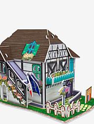 abordables -Puzzles 3D Puzzle Maquette en Papier Bâtiment Célèbre Architecture 3D Articles d'ameublement A Faire Soi-Même Bois Naturel Enfant Unisexe