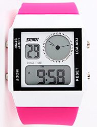 SKMEI® 0841 Fashion  Rectangle Dual Time Display LED digital jelly Electronic sport watch for unisex/men/women waterproof