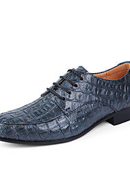 cheap -Men's Shoes Real Leather Cowhide Spring Fall Formal Shoes Driving Shoes Oxfords Lace-up For Wedding Casual Office & Career Party &