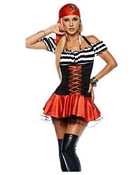 Недорогие -Пираты Платья Товары для Хэллоуина Маскарад Костюм Жен. Взрослые Хэллоуин Карнавал Фестиваль / праздник Инвентарь Винтаж