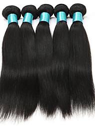 Straight Hairs 5 Bundles Women Hair Weft 500 gram Human Hair Extensions Brazilian Texture Straight Hairs