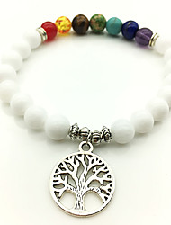 cheap -Fashion Colorful Life Tree Beaded Bracelet