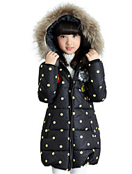 Girls' Polka Dots Down & Cotton Padded,Cotton Polyester Winter Long Sleeve Dot White Black Red