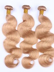 abordables -Cabello Malayo Ondulado Grande Cabello humano Precolored Tejidos de pelo Cabello humano teje Extensiones de cabello humano Mujer
