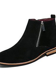 baratos -Homens Sapatos formais Camurça Outono / Inverno Botas Preto / Bege / Marron