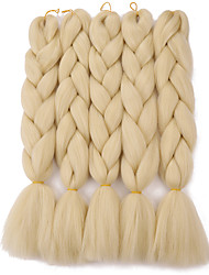 "Tresses Jumbo 1 pièce Tresse Natté Tresses au Crochet 24 "" 100% cheveux kanekalon Cheveux 100 % Kanekalon vin foncé Bourgogne Bleu Jaune"