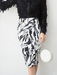cheap -Women's Daily Going out Holiday Midi Skirts, Casual Street chic Bodycon Others Spring Fall