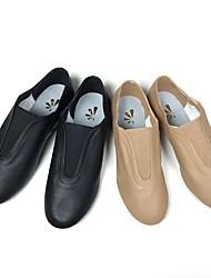 "cheap -Women's Jazz Pigskin Heel Training Low Heel Black Brown Under 1"" Customizable"