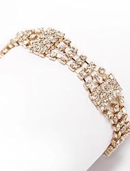 Dámské Řetězové & Ploché Náramky imitace drahokamu Módní Štras Slitina Šperky Pro Svatební Denní