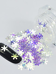 cheap -1g/Bottle Fashion Winter Christmas Snowflake Glitter Sequins Laser Rainbow Blue Shining Nail DIY  Decoration