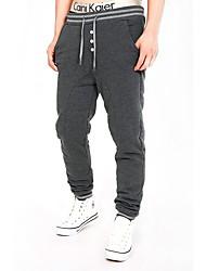 cheap -Men's Running Pants Breathable Comfortable Pants / Trousers Running/Jogging Exercise & Fitness Cotton Slim Black Dark Grey Grey M L XL XXL