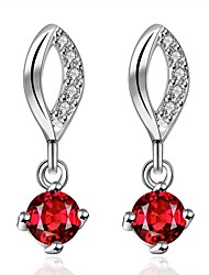 Women's Hoop Earrings Cubic Zirconia AAA Cubic Zirconia Personalized Classic Zircon Silver Plated Drop Irregular Jewelry For Other Daily