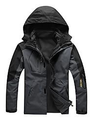 cheap -LEIBINDI Men's Hiking 3-in-1 Jackets Outdoor Winter Quick Dry Windproof Rain-Proof Stretchy Top Waterproof Single Slider Running/Jogging