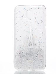 baratos -Capinha Para Samsung Galaxy J7 (2017) J5 (2017) J3 (2017) Transparente Estampada Capa Traseira Torre Eiffel Macia Silicone para J7 (2017)