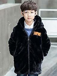 Boys' Solid Jacket & Coat,Faux Fur Cotton Winter Long Sleeve
