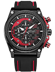 cheap -Men's Quartz Sport Watch Hot Sale Silicone Band Casual Black Red Yellow