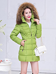 Women's Long Padded Coat,Simple Plus Size Solid-Cotton Polypropylene Long Sleeves