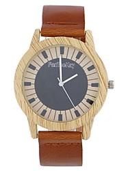 Homens Mulheres Relógio de Moda Relógio de Pulso Único Criativo relógio Relógio Madeira Chinês Quartzo Couro Banda Vintage Pendente