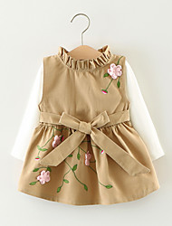 Girl's Jacquard Dress,Cotton Fall Long Sleeve