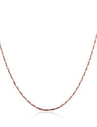 Недорогие -Жен. Прочее форма Мода Ожерелья-цепочки Бижутерия Позолота Позолоченное розовым золотом Ожерелья-цепочки Для вечеринок Повседневные