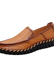 abordables -Homme Chaussures Cuir Nappa Printemps / Automne Confort Mocassins et Chaussons+D6148 Noir / Brun claire / Brun Foncé