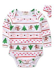Une-Pièce bébé Imprimé animal Fleur Arc-en-ciel Polyester 100% coton Printemps/Automne Eté Manches longues