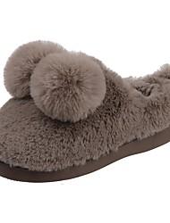 Da ragazzo Scarpe Velluto Inverno Primi passi Fodera di pelliccia Fodera di lanugine Comoda Pantofole e infradito Pompon Per Casual Nero