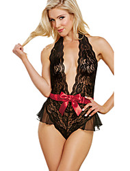 cheap -Women's Lace Lingerie Ultra Sexy Teddy Nightwear,Sexy Solid-Thin Polyester