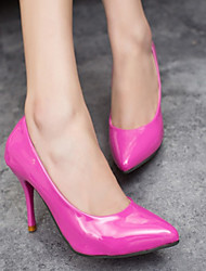 Women's Shoes PU Spring Summer Basic Pump Heels Stiletto Heel Pointed Toe For Outdoor Office & Career Light Blue Fuchsia Black