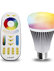 8W E27 LED Smart Bulbs 16 SMD 5050 560 lm RGB Dual Light Source Color / K Dimmable Remote-Controlled Decorative AC100-240 V 1set