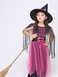 Wizard/Witch Cosplay Costumes Kid Halloween Festival/Holiday Halloween Costumes Fashion