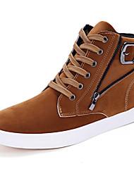 economico -Per uomo Scarpe Scamosciato Inverno Autunno Comoda Sneakers Cerniera per Casual All'aperto Nero Giallo Blu