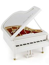 Caixa de música Brinquedos Piano Madeira Peças Unisexo Aniversário Dia dos namorados Dia da Criança Dom
