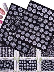 preiswerte -12 Muster Zubehör Pflege Art déco/Retro Spitzen-Aufkleber 3D Nagel Sticker Aufkleber Bastelmaterial Spitze 3-D Modisch Alltag Gute