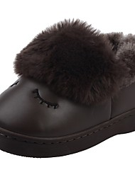 Da ragazzo Scarpe PU (Poliuretano) Inverno Comoda Primi passi Stivali da neve Stivali Fodera di pelliccia Fodera di lanugine Pantofole e