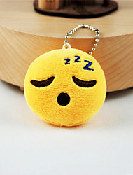 New Arrival Cute Emoji Fell Asleep Face Key Chain Plush Toy Gift Bag Pendant