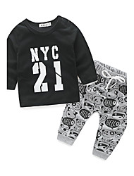Boys' Print Sets,Cotton Spring Fall Long Sleeve Clothing Set