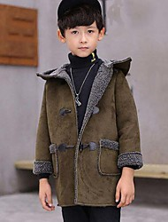 cheap -Boys' Solid Suit & Blazer,PU Cotton Winter Fall Long Sleeve Green Black