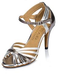 "Women's Faux Leather Sandal Heel Sneaker Indoor Splicing Stiletto Heel Gold Silver 3"" - 3 3/4"" Customizable"